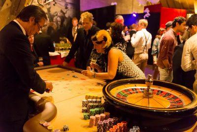 Mobiles Fun-Casino: Veranstaltungsfoto mit Roulette-Tisch