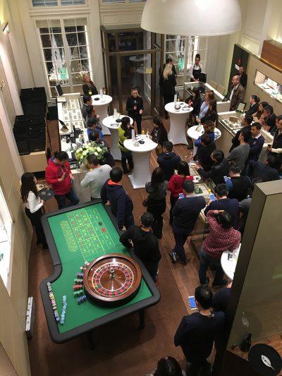 Produktpräsentation mit mobilem Event-Casino